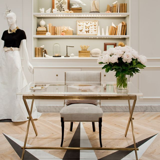 glass top office table chic. j crew office love the brass and glass top desk white shelves simple table chic