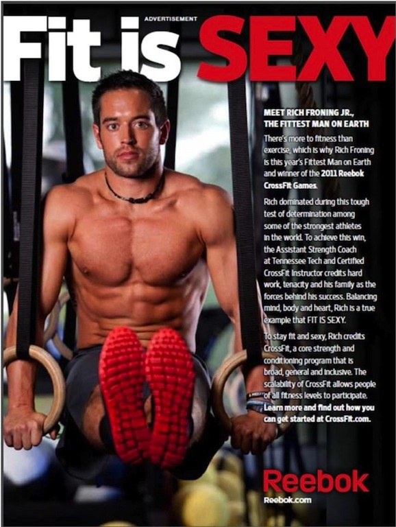 """Rich Froning, """"Fittest Man on Earth"""" two years in a row ♥ I'm pretty sure he also """"Sexiest Man Alive"""" in the bag as well ;)"""