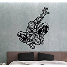 Spiderman Wall Decal Super Hero Sticker Nursery Decor Comics Hero Bedroom  Decals 2ecc