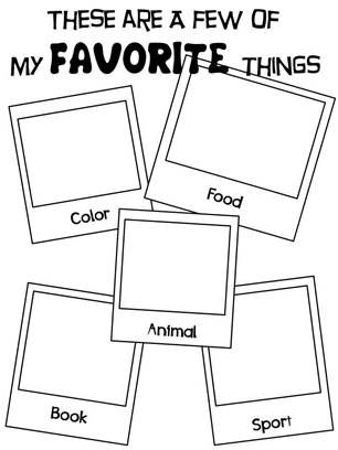 back to school activities for kindergarten, 1st, and 2nd graders draw about your favorite things