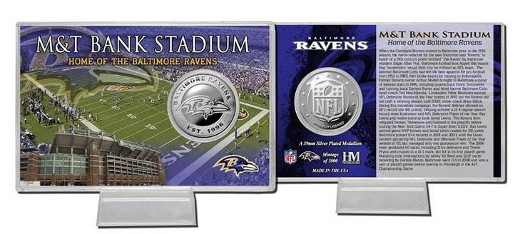 Baltimore Ravens Silver Coin Card - Stadium