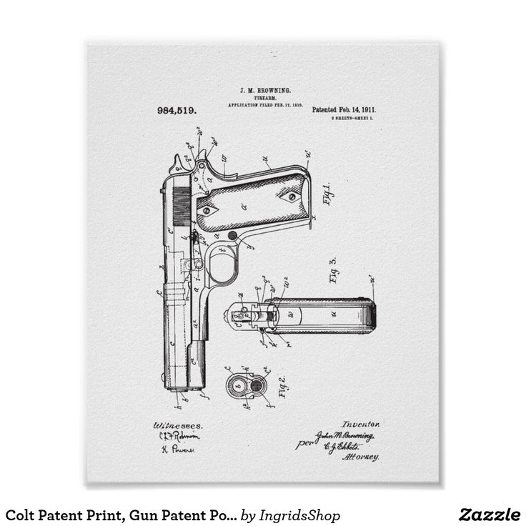 Colt Patent Print, Gun Patent Poster