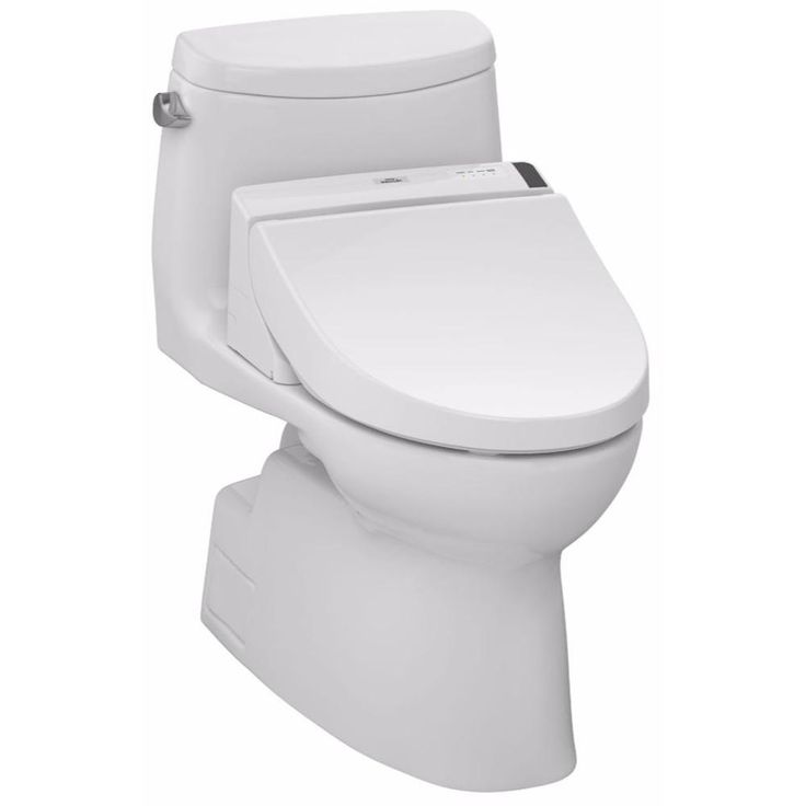 Toto Carlyle II C200 Connect+ Washlet Elongated Bidet in Cotton White