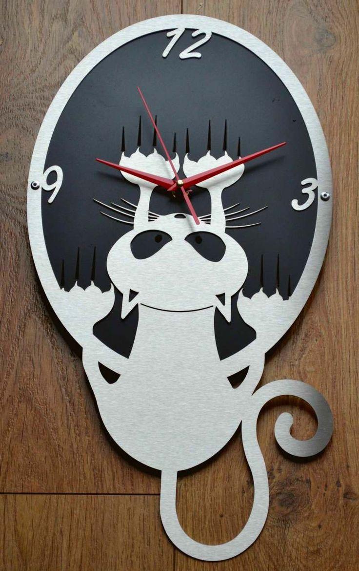 Relógio de parede gato