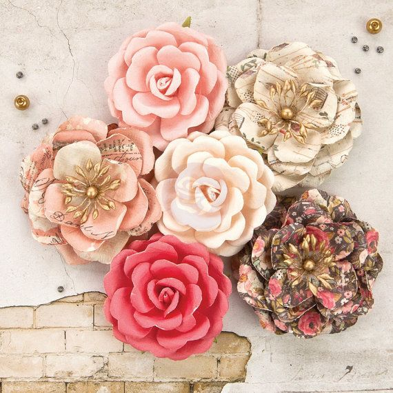 Reneabouquets New Listing~Prima Marketing Rossibelle Flower Embellishement  Style Stella New Release In Stock Ready To Ship