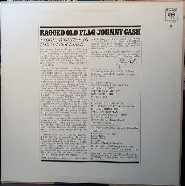 Johnny Cash Ragged Old Flag At Discogs Johnny Cash Johnny Rag