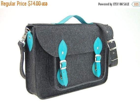 Autumn Sale Felt Laptop 17 inch bag with pocket, satchel, Macbook Pro 17 inch, CUSTOM SIZE Laptop bag, case