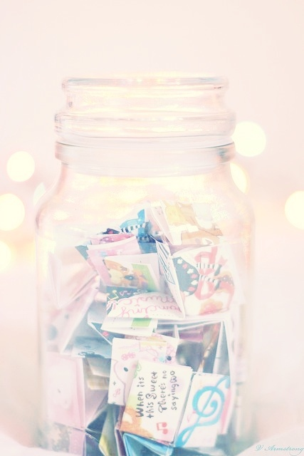 #Memory #jars - a great way to look back on your year. Fill with favourite memories throughout the year and open on #New #Years Eve.
