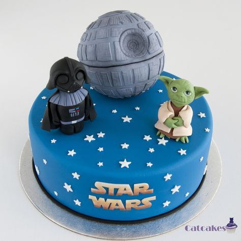 Friki tartas - Catcakes Yoda Darth Vader Death star cake