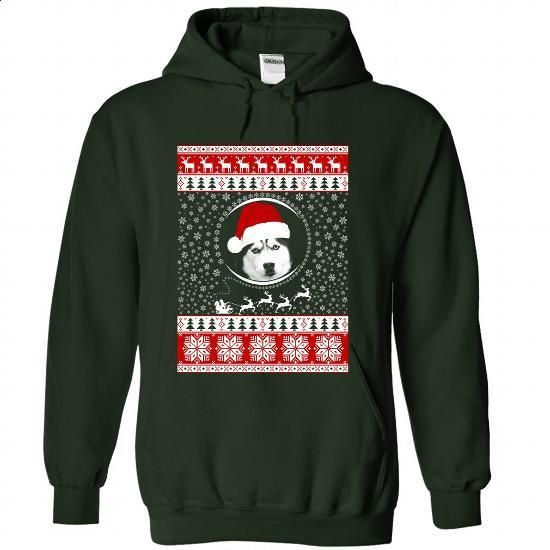 Santa Husky - #sweatshirts for men #hooded sweatshirt. GET YOURS => https://www.sunfrog.com/Christmas/Santa-Husky-9162-Forest-Hoodie.html?id=60505