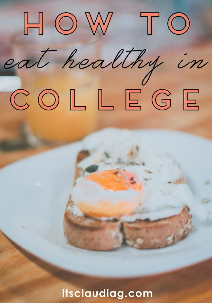 It is possible to eat healthy in college! Here my tips on how to eat healthy in college with a budget and stay fit + some recipe and food ideas you can cook on your own college apartment!