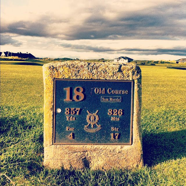 18th hole at the 'Old Course' in St Andrews... said to be the home of golf!