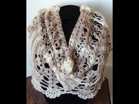 Crochet : Bufanda - Chal. Parte 3 de 3 - YouTube