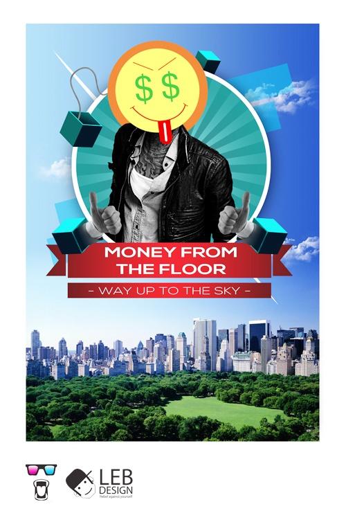 Money from the floor by Claudio Bellosta, via BehanceFloors