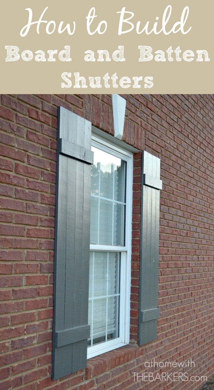 Shutters-How to build board board and batten