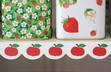 Hyllremsa - Röda äpplen - Happy Retro