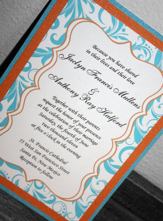 I like the design of these invitations the orange border sets it off.