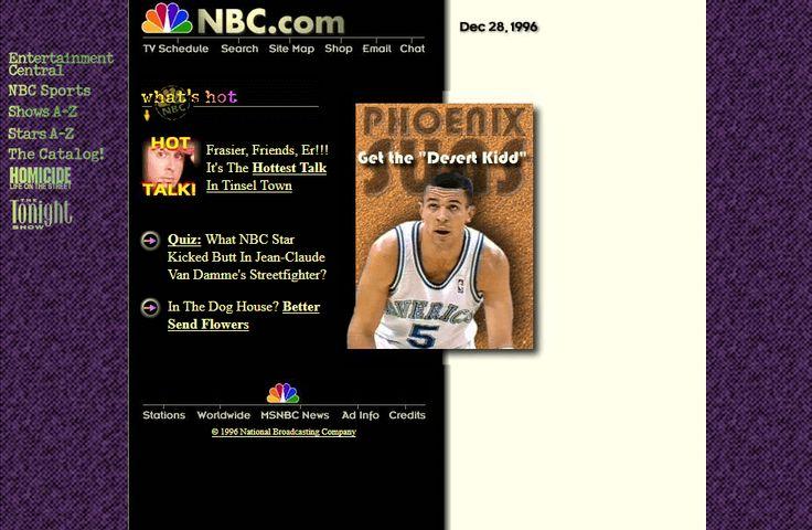 NBC website in 1996