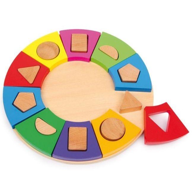 Tinkie Toys - Wooden Circle Shape Sorter Jigsaw Puzzle, £17.95 (http://www.tinkietoys.com/wooden-circle-shape-sorter-jigsaw-puzzle/)