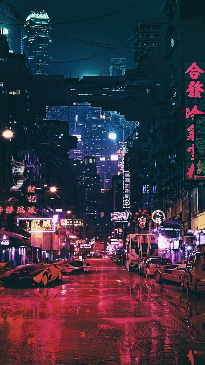 Ghost In The Shell City Movie 720x1280 Wallpaper