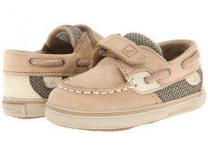 Sperry Top-Sider Kids Bluefish Prewalker HL (Infant/Toddler) (Linen/Oat Nubuck) Kids Shoes