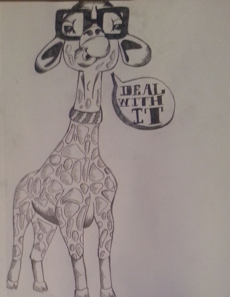 Cool guy Giraffe drawing | DIY projectss. | Pinterest ...Cool Giraffe Drawings