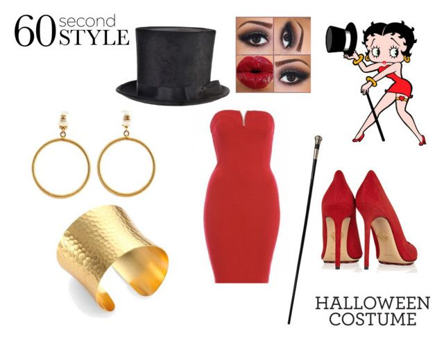 """Betty Boop Last Minute Halloween Costume"" by samyangelo on Polyvore featuring moda, Betty Boop, AX Paris, Charlotte Olympia, Chanel y Stephanie Kantis"