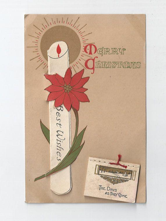 CIJ SALE  Vintage 1910's Christmas Card  by MagellansBellyStudio, $10.00