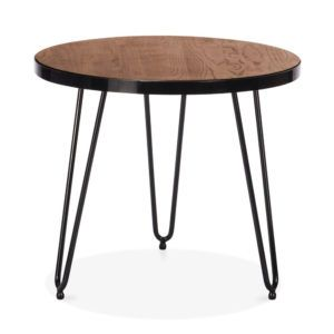 Small Round Walnut Side Table