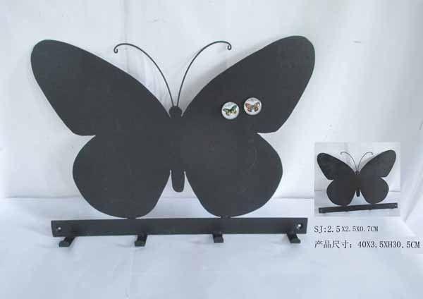 vintage zwarte vlinder vorm memo rek met magneet