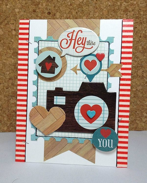 New from Simple Stories Daily Grind Collection, this beautiful handmade card is the perfect way to tell someone you love them - Scrapbook.com