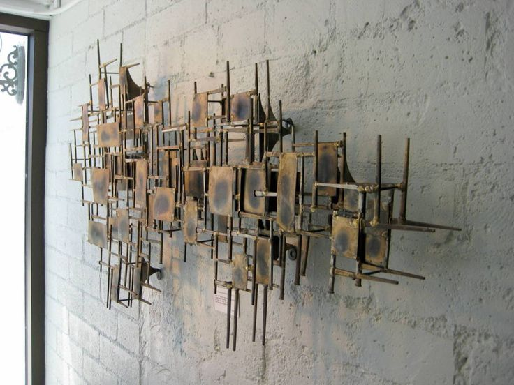 Vintage Metal Wall Art 17 best mid mod wood and metal brutalist wall sculpture and more