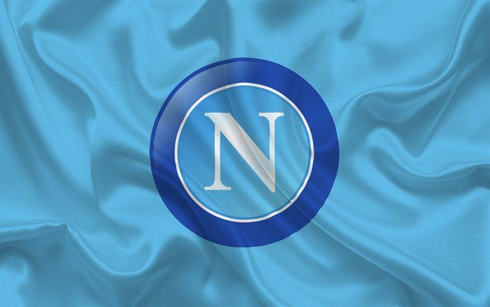 Descargar fondos de pantalla Napoli, Nápoles, fútbol, emblema, Italia, Napoli logotipo, de la Serie a italiana de fútbol del club