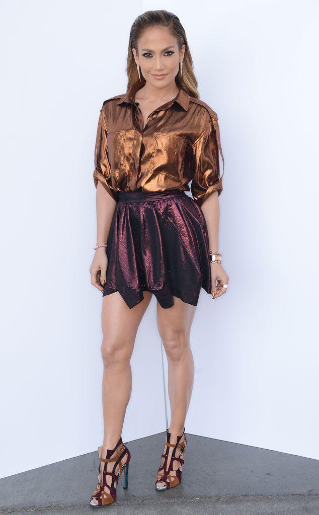 Metallic Mama from Jennifer Lopez's American Idol Looks | E! Online