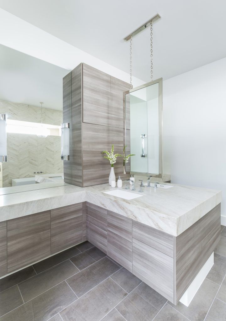 Contemporary Elegance in Houston   Interior Design by Marie Flanigan Interiors   Photography by Julie Soefer   Modern Sanctuary   Bathroom Inspiration   Modern Bathroom   Tile Inspiration   Modern Floor Tile   Contemporary Floor Tile   Bath Fixtures   Modern Bath Fixtures   Lighting Inspiration   Modern Lighting   Contemporary Lighting   Wall Tile   Modern Wall Tile   Vanity Inspiration   Mirror Inspiration   Modern Mirrors