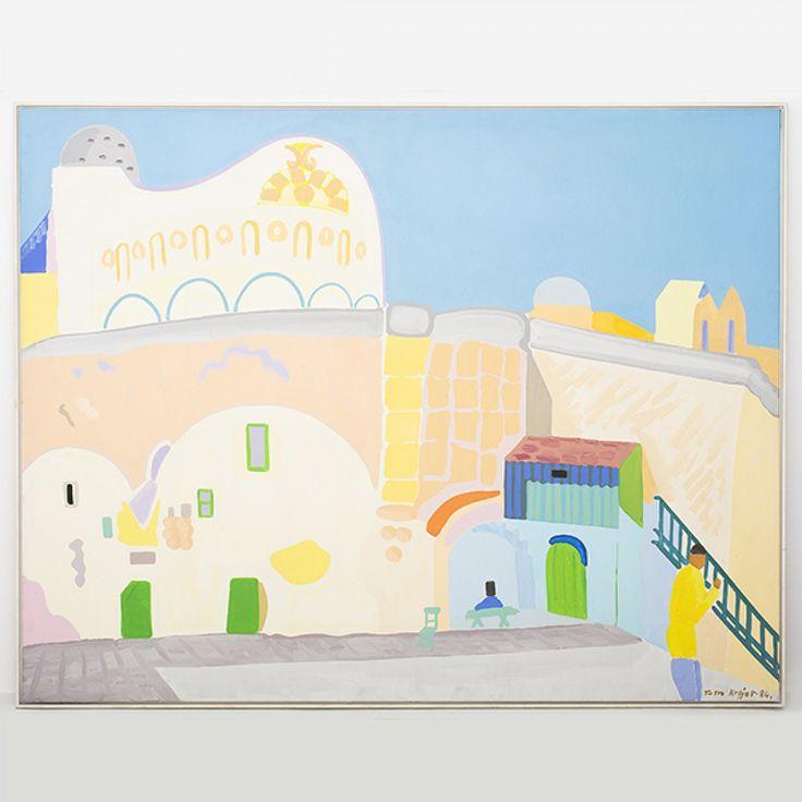 "Maleri ""Det etiopiske kloster i Jerusalem"""