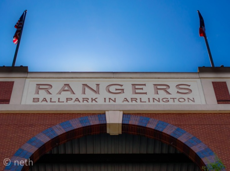 166/365:Rangers Ballpark in Arlington  It is a fine day, people open windows, they go to the ballpark and have some nachos. Going to the Rangers game today, let's hope the get back to the WIN COLUMN.  LET'S GO RANGERS
