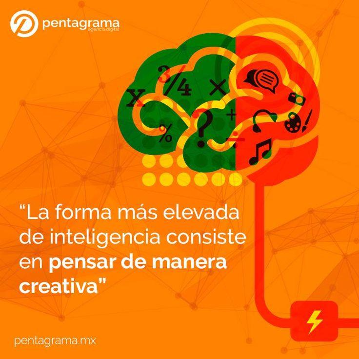 Es un hecho, la inteligencia es igual al nivel de creatividad con que hagamos las cosas #Creatividad #Innovacion #Inteligencia