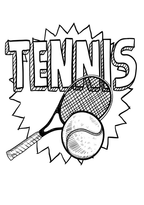 Tennis Coloring Page In 2020 Coloring Pages Sports Coloring Pages Coloring Pages For Kids