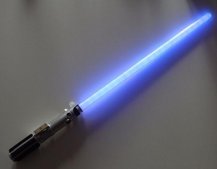 Star Wars Ultimate FX LightSaber Anakin Skywalker 2010 Hasbro Blue 32719 #Hasbro