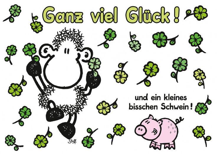 Ganz viel Glück! Und ein kleines bisschen Schwein. | sheepworld | Echte…