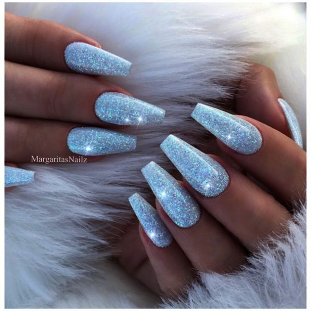 Sparkly Short Coffin Nails Even Nail Care Jeddah Whenever Nail Care And Spa Prices Sparkly Acrylic Nails Blue Glitter Nails Acrylic Nails Coffin Glitter