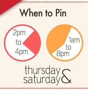 When to Pin on Pinterest Pinterest Social Media Tips