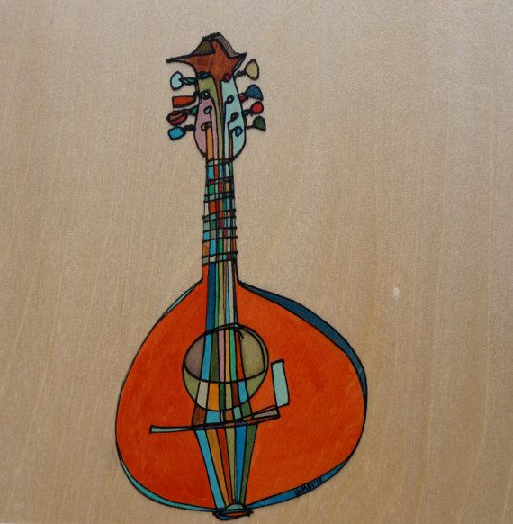 Musical Instrument Painting Mandolin Painting by KatherineHomes