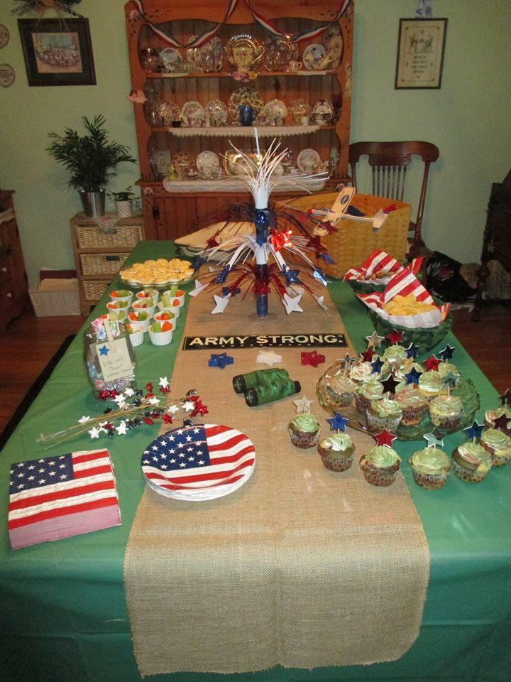 Best 25 going away parties ideas on pinterest farwell for Army party decoration ideas