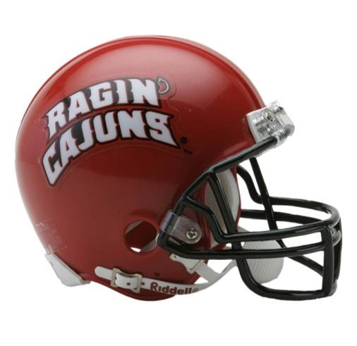 Louisiana at Lafayette Ragin' Cajuns football game helmet