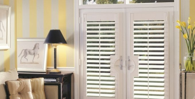 24 best images about french window blinds on pinterest for Should plantation shutters match trim