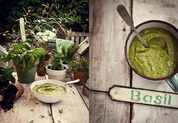 creamy pesto: Ate Foodies, Food Style, Food Photography, Basil Pesto, Fast Food, Goats Cheese, Basil Yummy, Katy Ate, Birthday Recipe