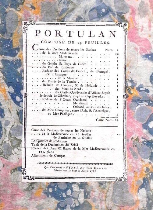 Portulan de Méditerranée, exemplaire de Lord Craven,  Joseph Roux. Carte de la mer Méditerranée en Douze Feuilles