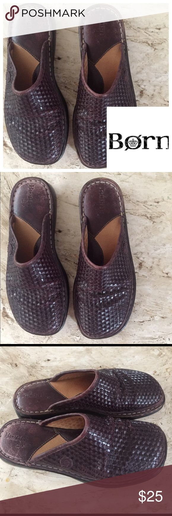 Born Women's Woven Mules. Size 6/36 Born Women's Woven Mules. Size 6/36 worn a few times. Lots of life left in them. Born Shoes Mules & Clogs
